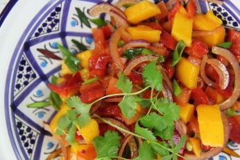 Asijská mangová salsa