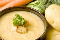 Krémová polévka z brambor a mrkve