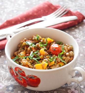 Čočkový salát s paprikou
