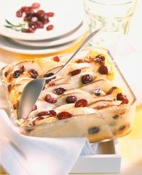 Tvarohový koláč s jablky a brusinkami