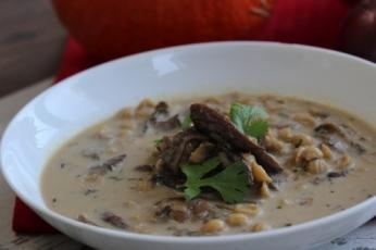 Houbová polévka s těstovinami
