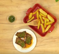Argentinský steak s bylinkovou omáčkou