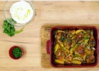 Rozmarýnové kuře s bramborami  a tzatziky