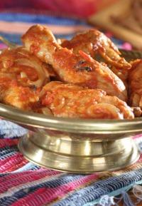 Kuře na arabský způsob s rajčaty a kari
