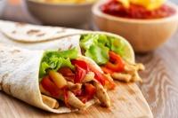 Tortilly s panenkou a zeleninou